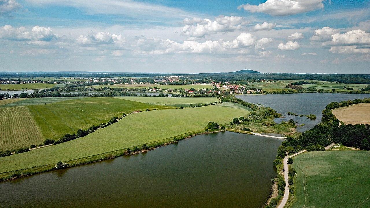 Wermsdorfer Seen, Luftbild, CC BY by PaulT on wikimedia